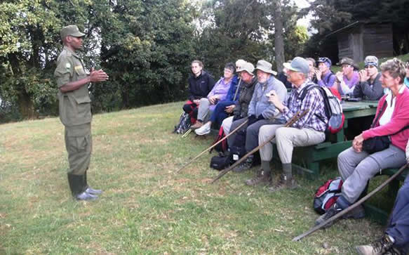 Pre-Briefing from Gorilla Guides / Rangers